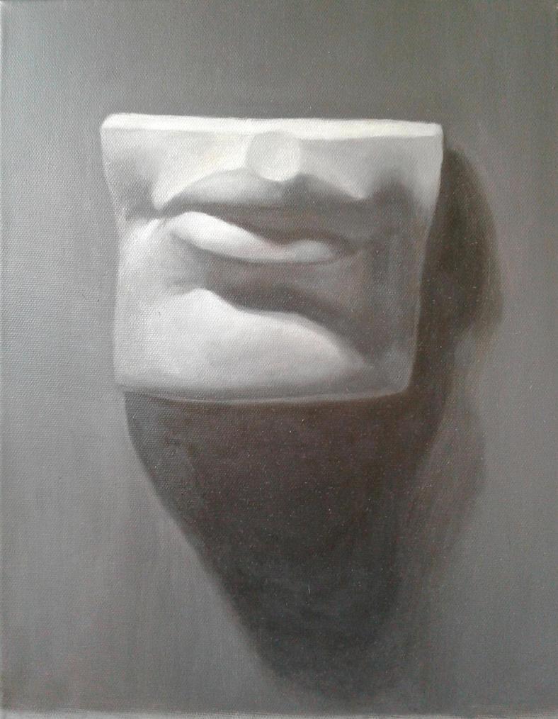 David's mouth study by sketchabeth