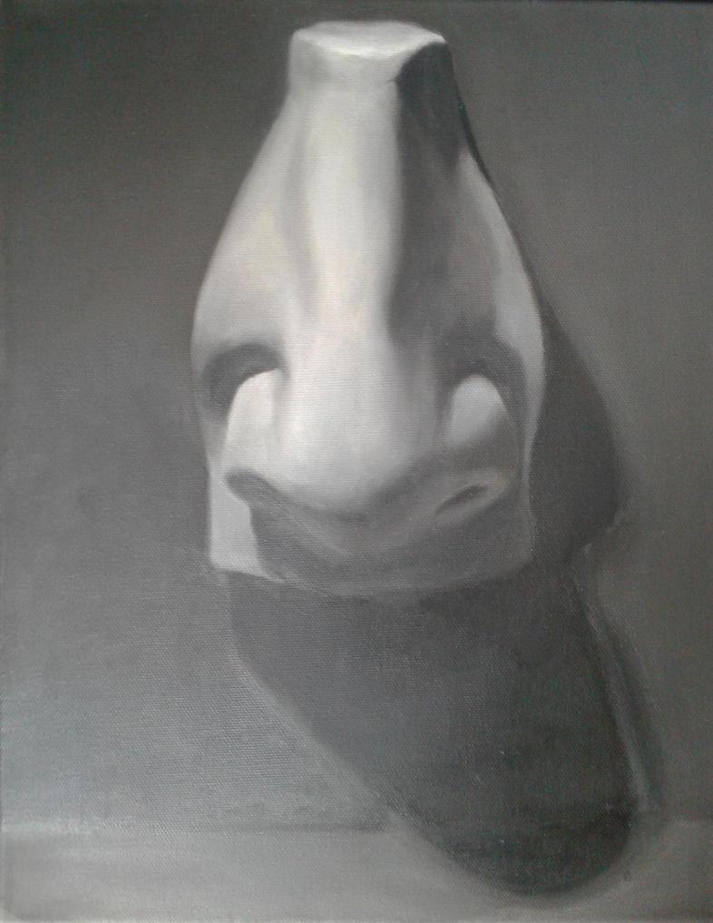 David's nose study by sketchabeth