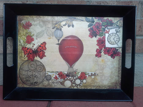 Decoupaged Serving Tray