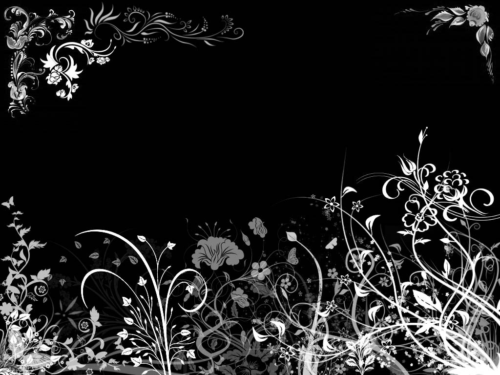 Pink Wallpaper Web: Black Floral Wallpaper