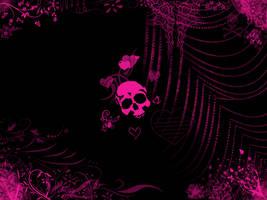 Pink Skull by Daemonika