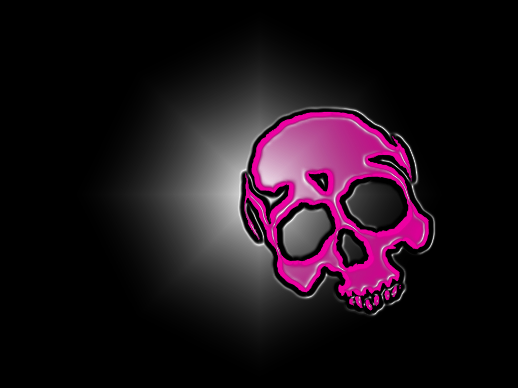 Pink Sugar Skull Background Ls