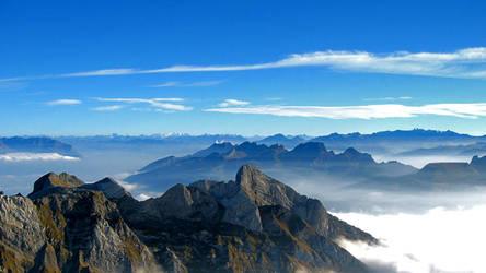 Looking out towards Oberschan