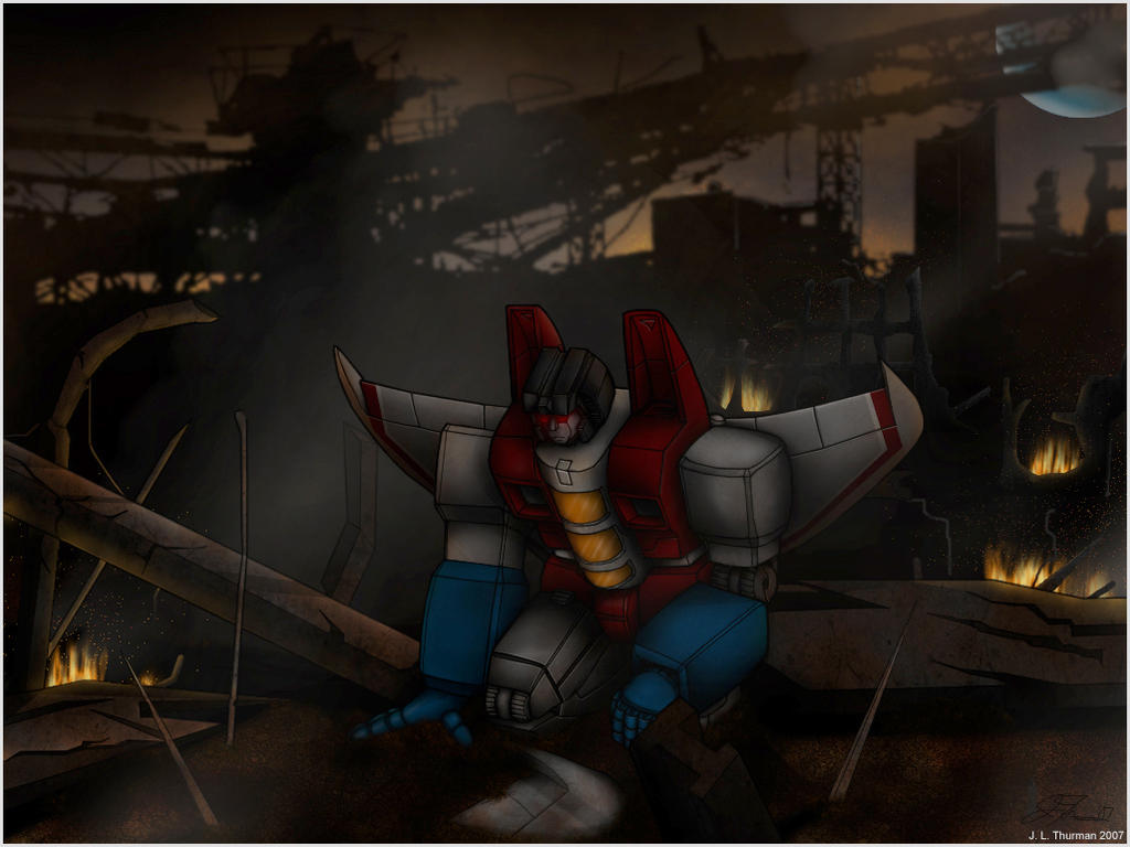 Starscream in the ruins