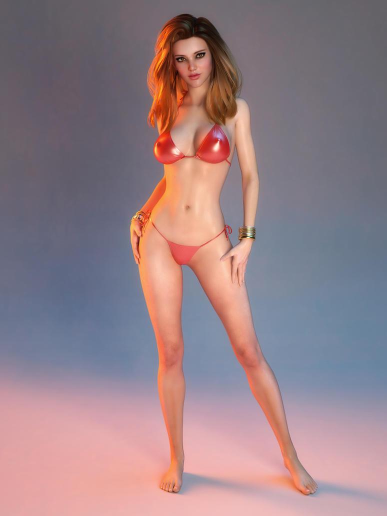 brunette bending over nude