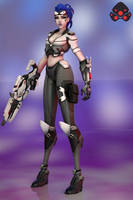 Overwatch Widowmaker by 3dmania