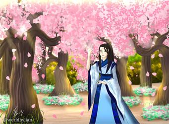 Under Cherry Blossom tree