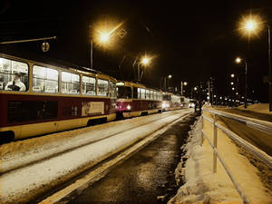Other side of trams