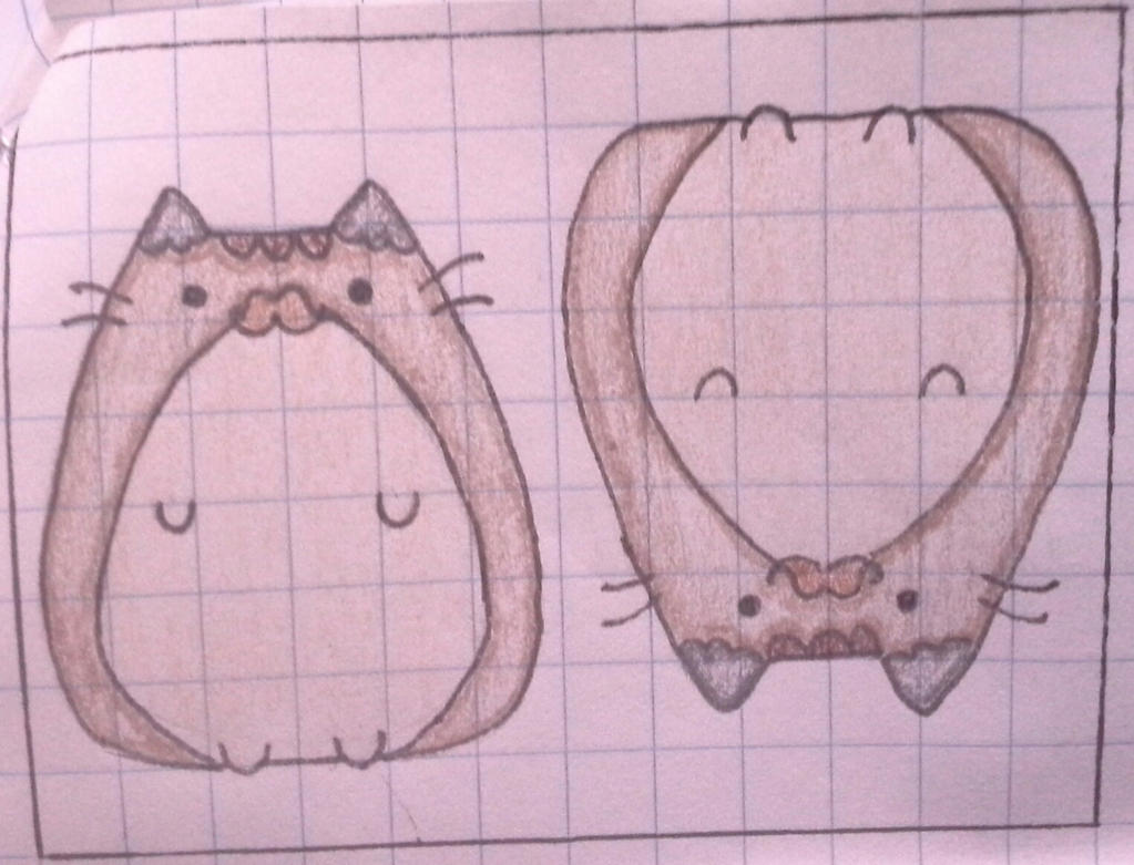 Fat Cat With a Cute Mustache Frieze by ColourfulPushpins