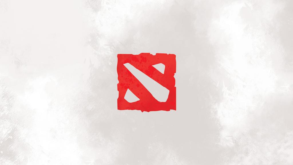 Dota 2 logo minimal white wallpaper by noblepress on for Minimal art logo