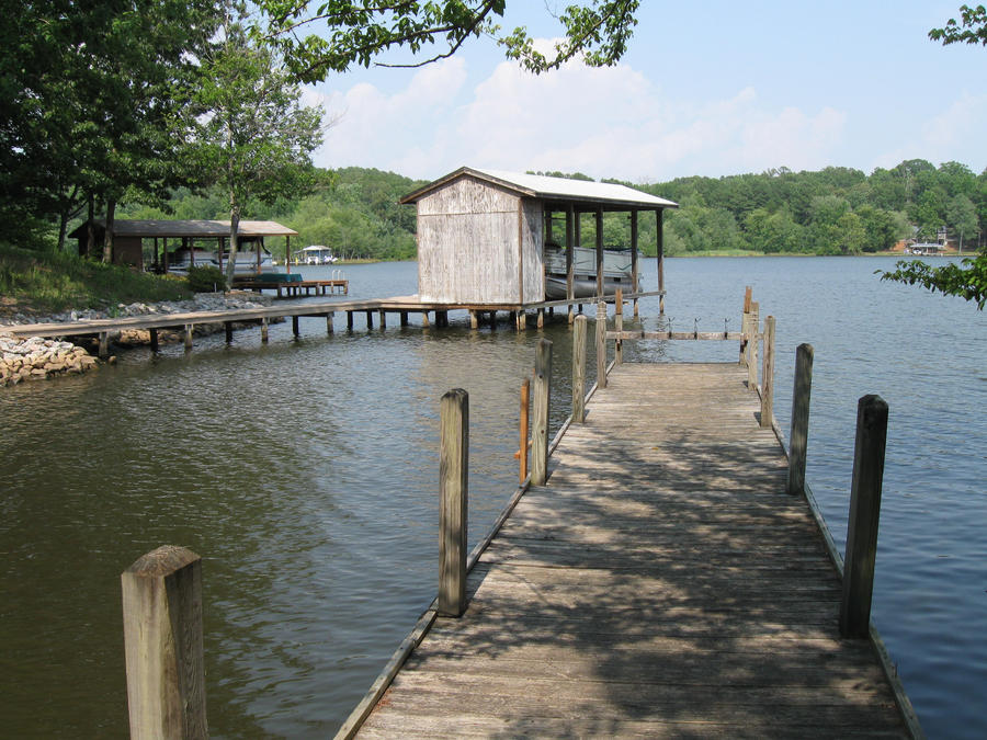 Fishing pier on lake gaston by contrabiscuit on deviantart for Lake gaston fishing
