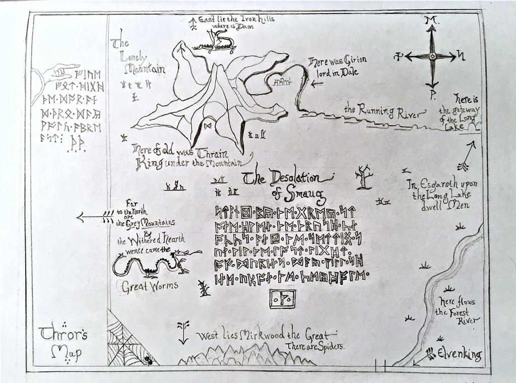tolkiens the hobbit thrors map