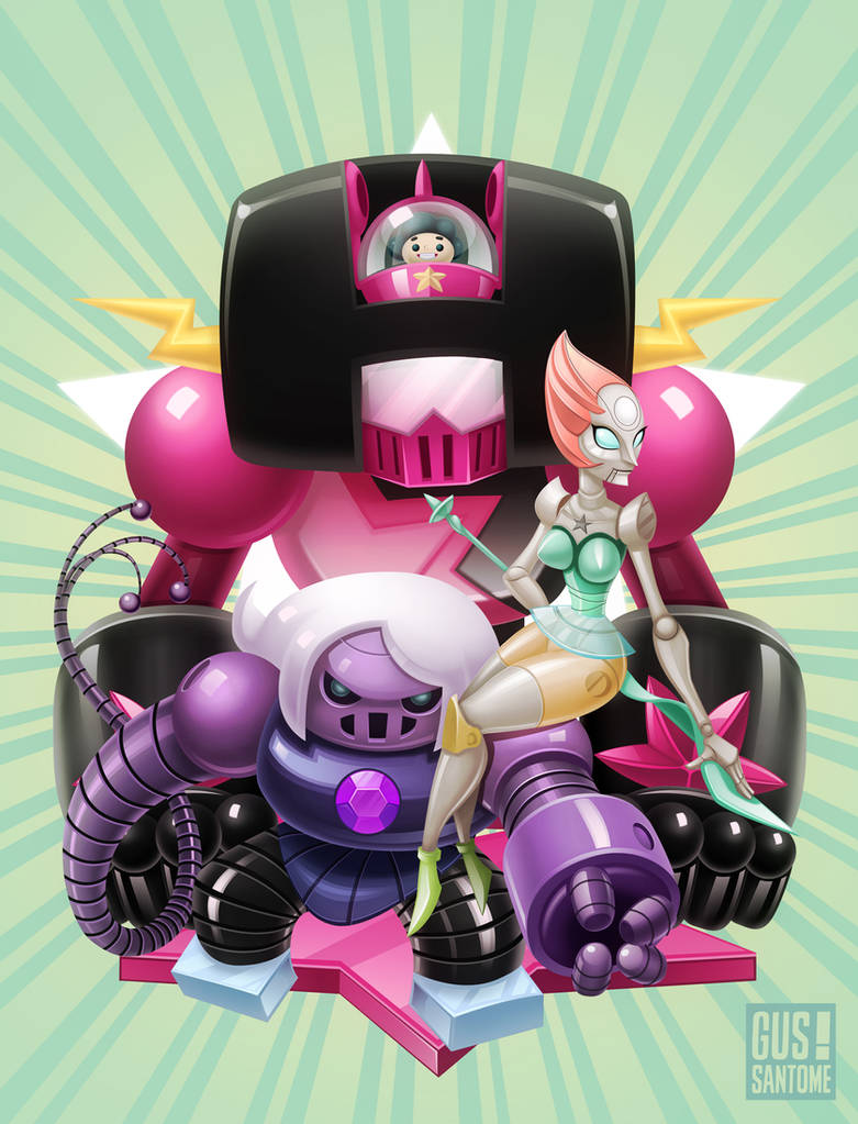 Steven Universe Robots V by GusSantome