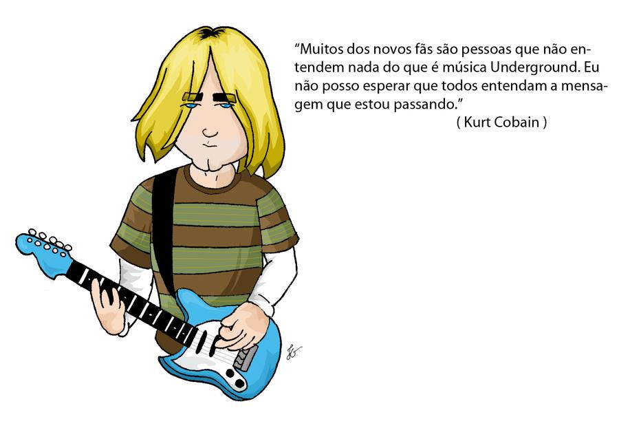 Caricature Kurt Cobain by DentinhoJG