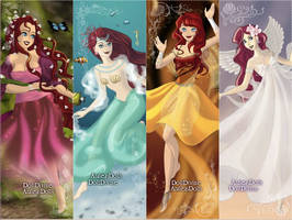 The four elements all Ariel by PinkPetalEntrance