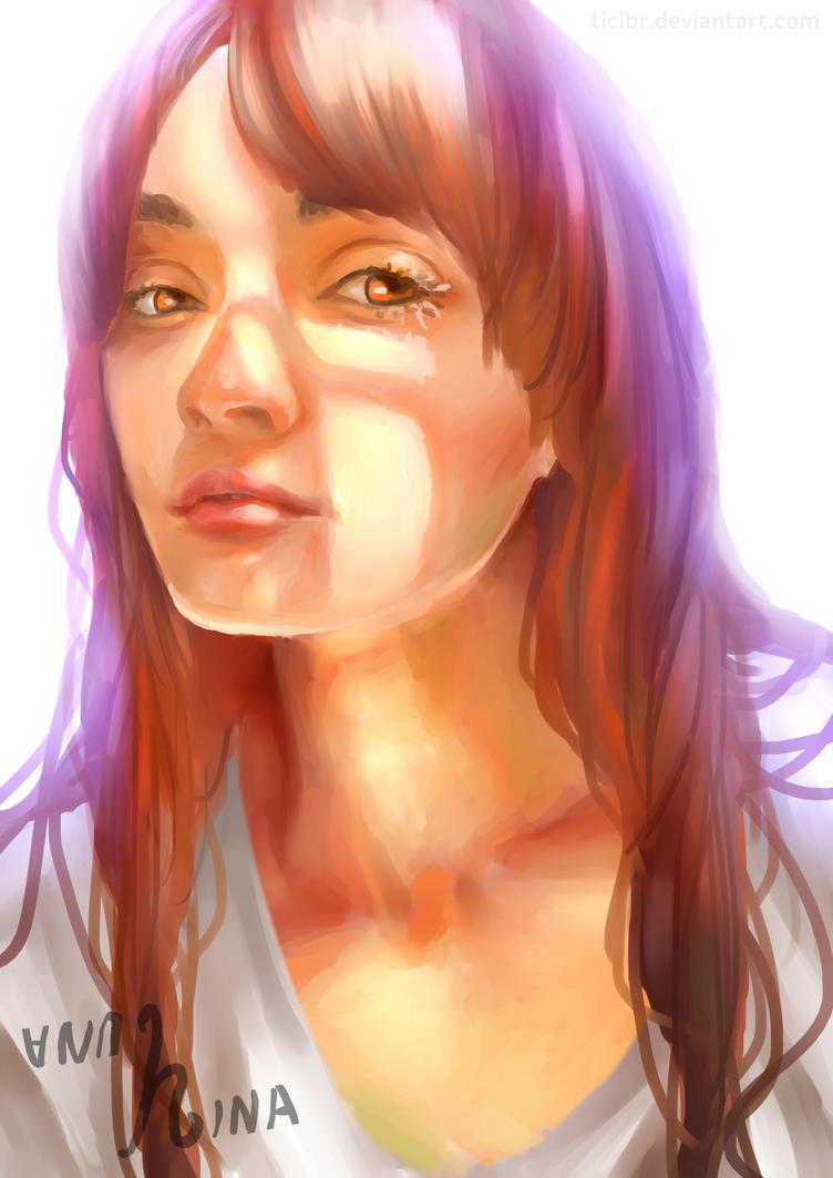 Self-portrait practice by ticibr