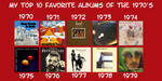 Ah-Non's Favorite Albums of the 1970's by Ah-NonIamkerd