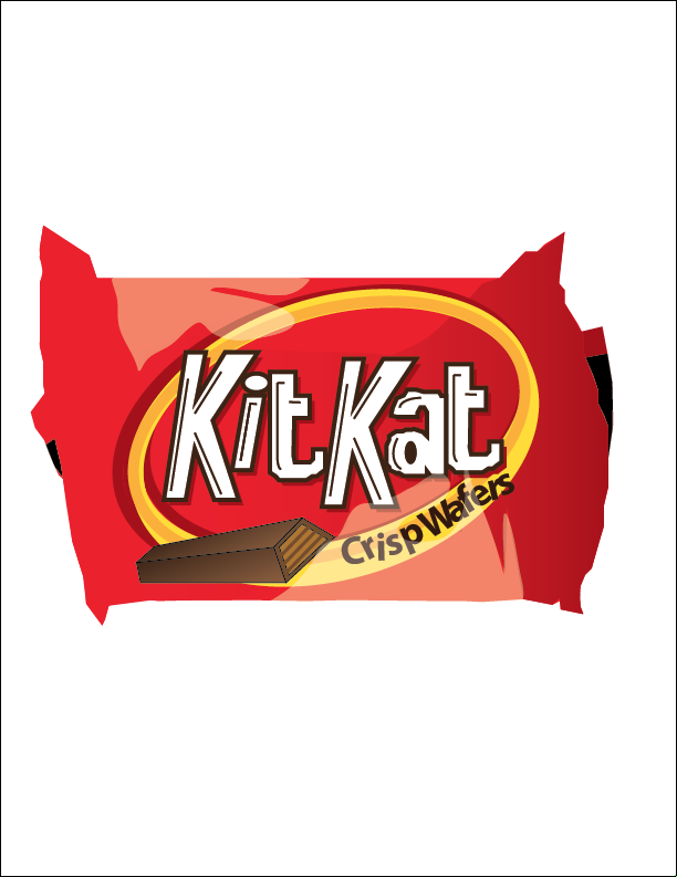 Empty Candy Wrapper Drawing Kit kat candy wrapper by