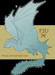 P2U Lineart - Wyvern Dragon! [ALWAYS OPEN]