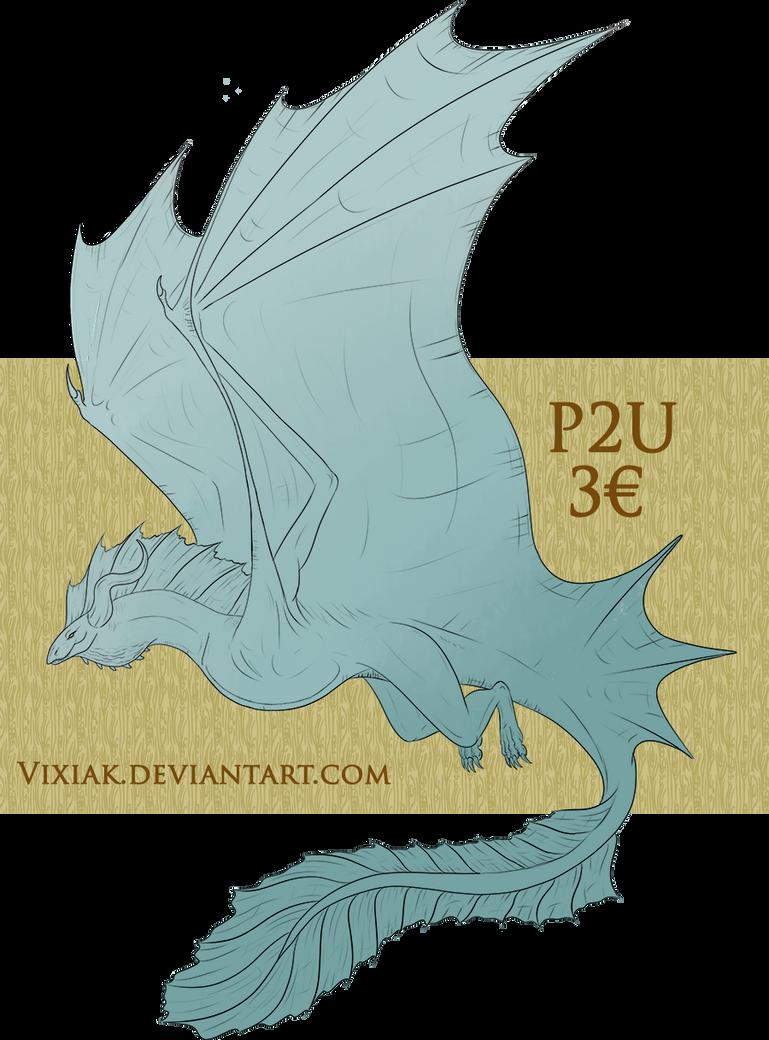 P2U Lineart - Wyvern Dragon! [ALWAYS OPEN] by vixiak