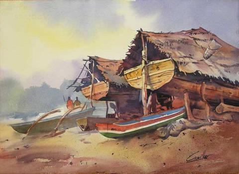 Boat in shelter