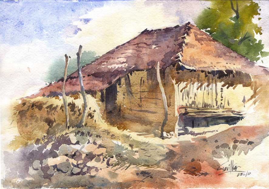 Old hut at Khandas by kios18