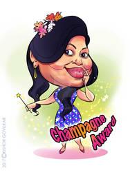 Nikita-Champagne Award caricature