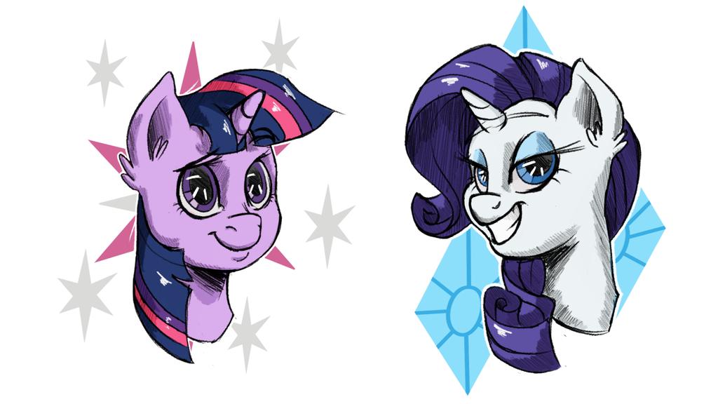 Unicorn ponies by Pixelfails
