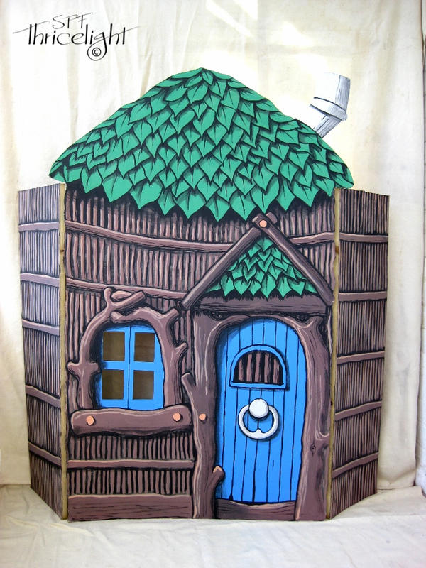 Three Little Pigs Stick House by Thricelight on DeviantArt