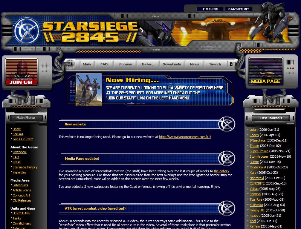 Starsiege 2845 Web Site by GlennClovis