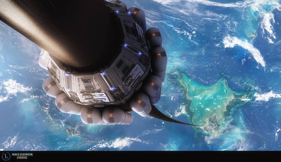 Space Elevator by GlennClovis