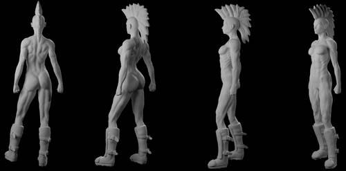 Punk Girl 3D 2 by Wainaja