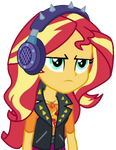 [Vector] Sunset Shimmer using spiked earphones