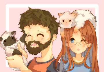 [c]_momo_and_maru by krysaii