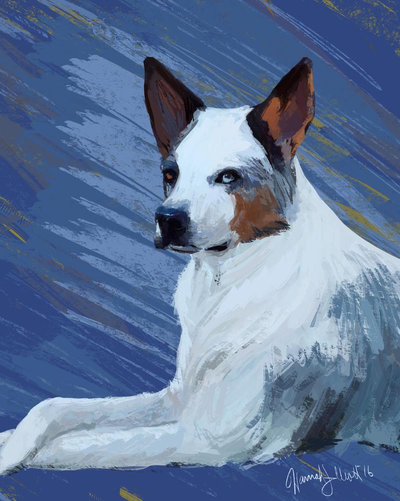Dog Portrait Commission 2 by Hmelliott1515