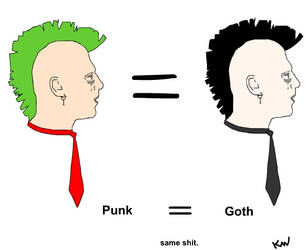 Goths and Punks by kris-wilson