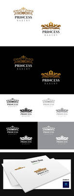 Princess Bakery Logo Template