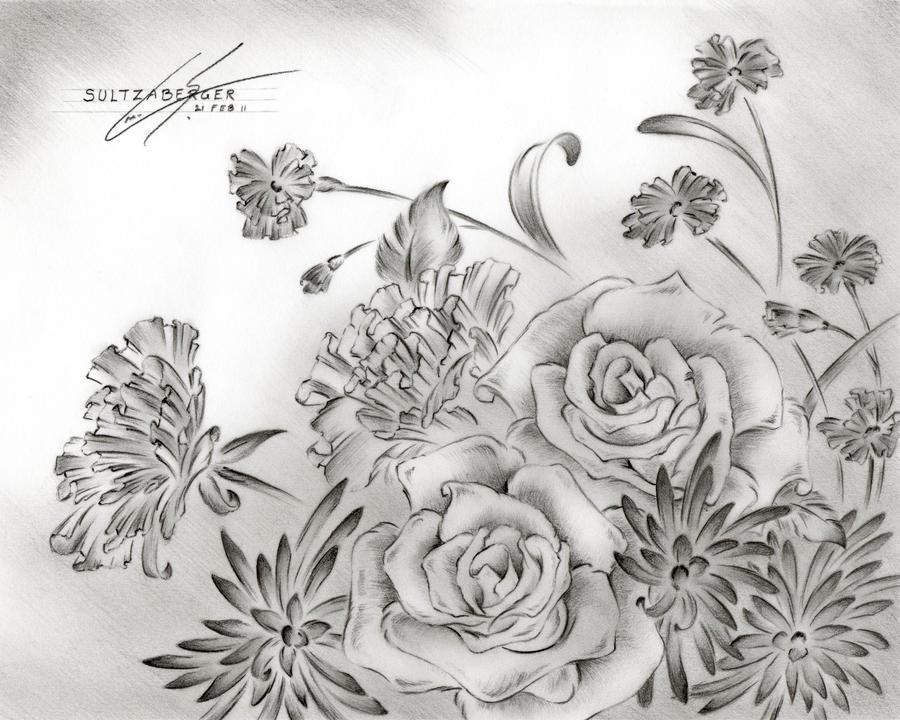 Flower Drawing 9 By Sultzaberger On Deviantart