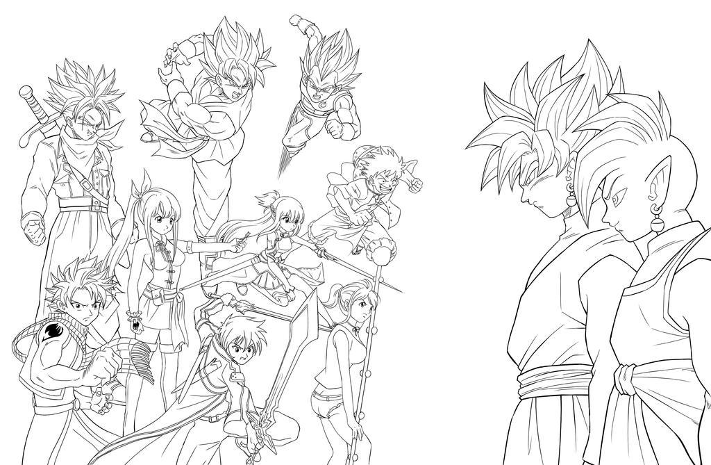 Dragonball Super Anime Crossover Lineart Karoine By Chaosmasterxx ...