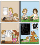 Silvery Earth Kids - another wordless strip