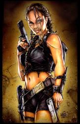 Tomb Raider -- Jolie style2 by PlanetDarkOne