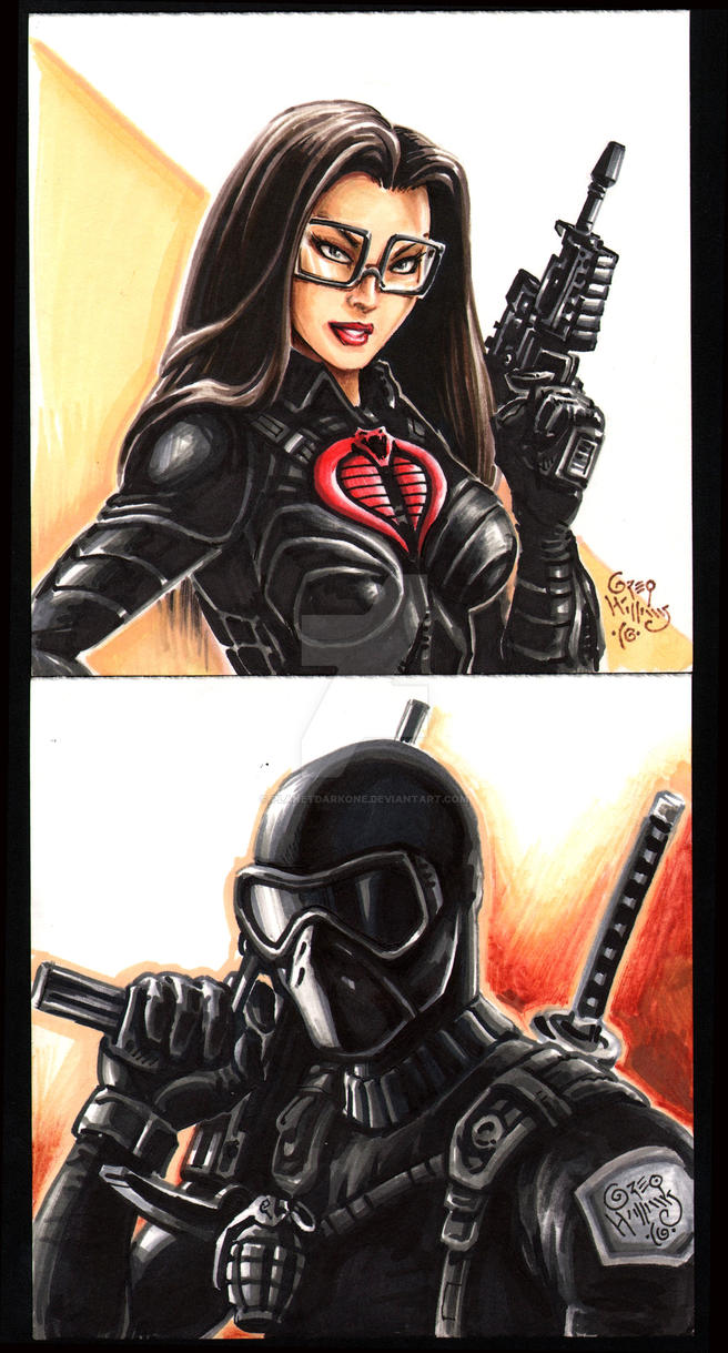 Baroness and SnakeEyes by PlanetDarkOne
