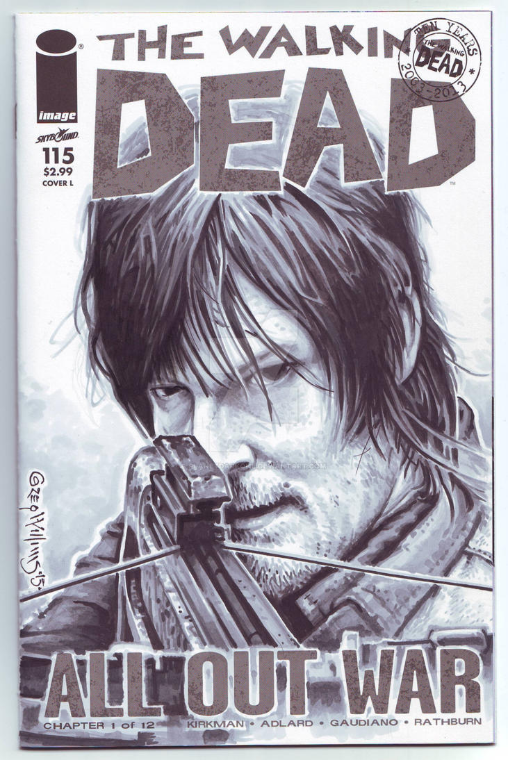 DARYL sketch Cover by PlanetDarkOne
