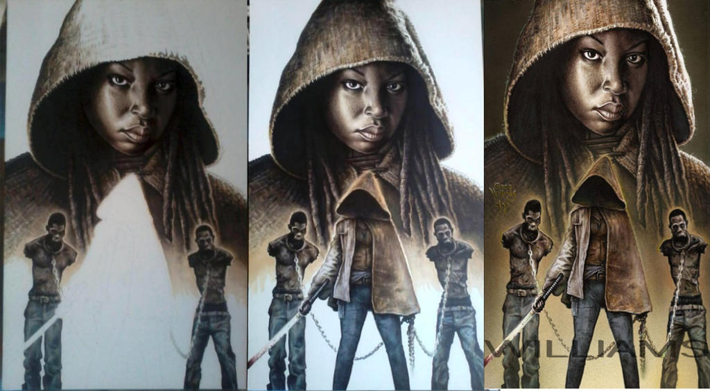 MICHONNE PRogressION by PlanetDarkOne