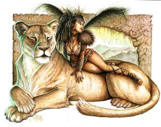 Lion Queen by PlanetDarkOne