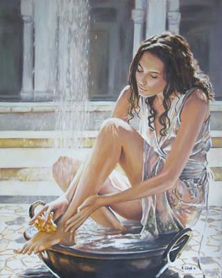 Woman Bathing by andylloyd