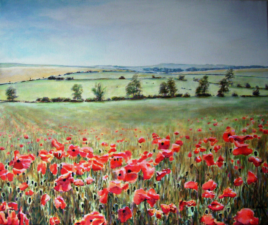 Omiljena slikarska tema Makovi Poppies_in_wiltshire_by_andylloyd-d36xvrq