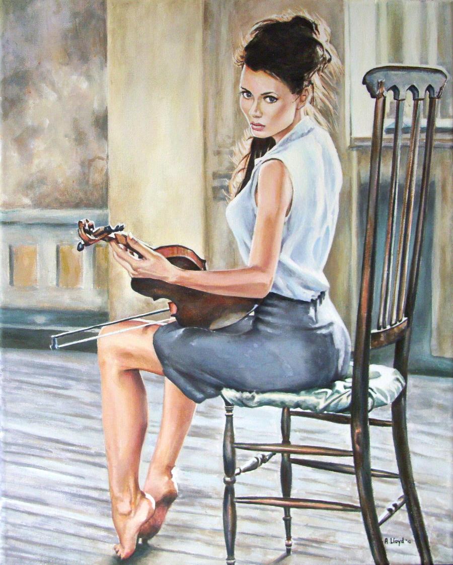 Zena na slikarskom platnu - Page 3 The_violinist_by_andylloyd-d4lhw1q