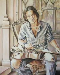 Johnny Depp on Guitar by andylloyd