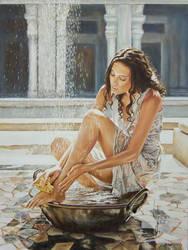 Woman Bathing 2013 by andylloyd